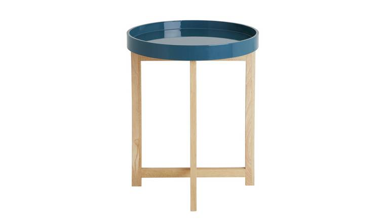 Habitat Ellory Round Tray Top Table - Petrol Blue