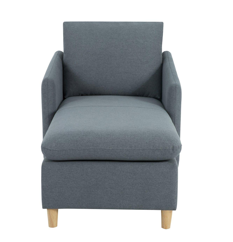 Habitat Mod Fabric Chaise Sofa with Arms - Grey