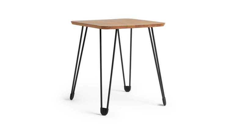 Habitat Klark Hairpin Side Table - Dark Wood Effect