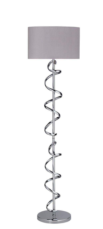 Argos Home Sculptural Swirl Floor Lamp - Grey