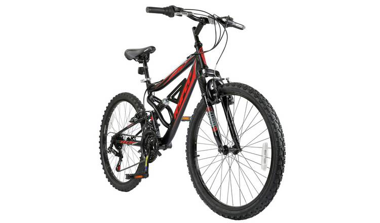 Hyper Shocker 24in Wheel Size Dual Suspension Bike