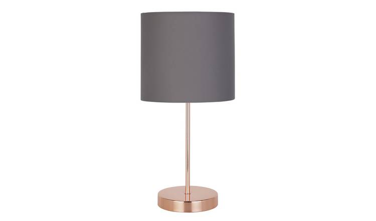 Argos Home Stick Table Lamp - Grey and Rose Gold