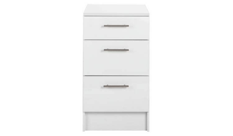 Argos Home Athina 500mm Fitted Kitchen 3 Drawer Unit - White
