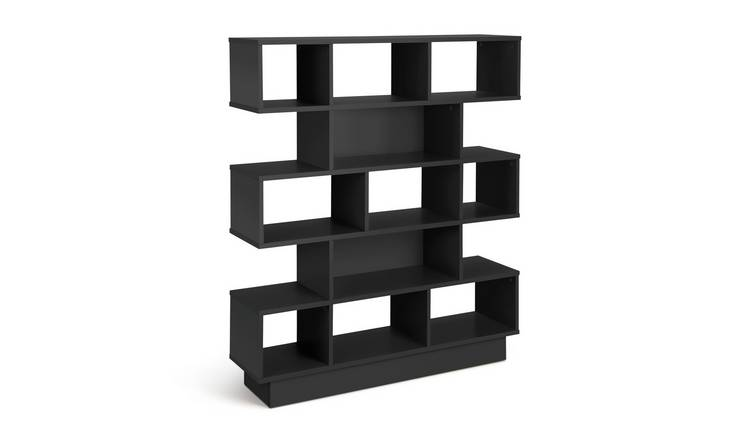 Habitat Cubes 5 Tier Wide Bookcase - Black