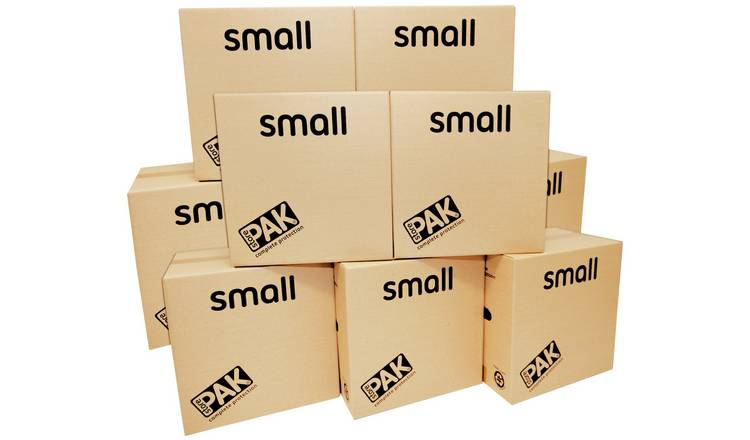 StorePAK Small Cardboard Boxes - Set of 10
