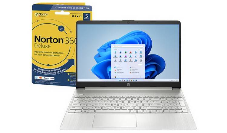 HP Slim 15.6in i7 8GB 512GB FHD Laptop & Norton 360