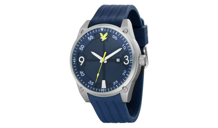 Lyle and Scott Men's Blue Silicone Strap Watch