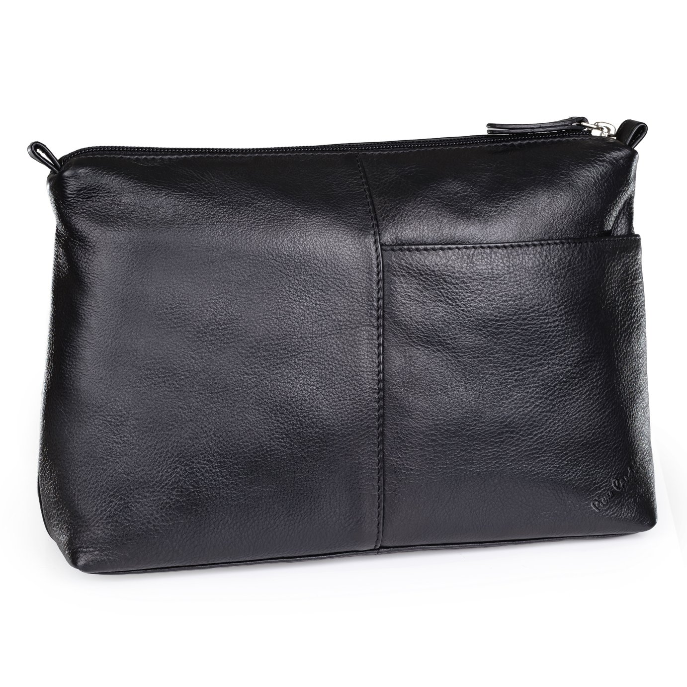 Pierre Cardin Leather Hanging Travel Toiletry Bag