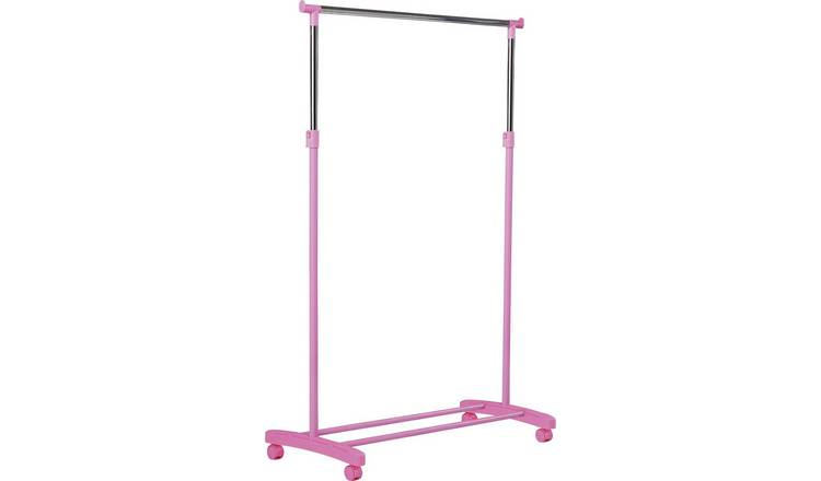 Argos Home Adjustable Chrome Plated Clothes Rail - Pink