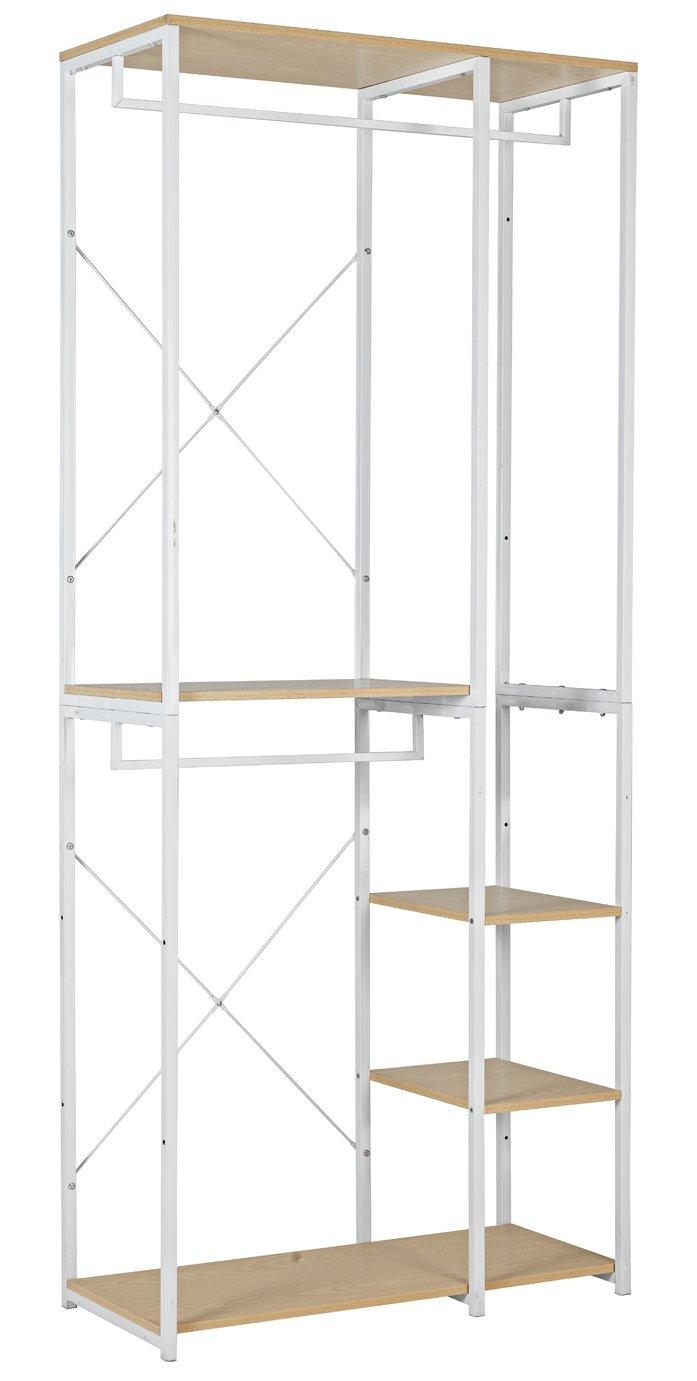 Argos Home Double 2 Rail 4 Shelf Wardrobe - White