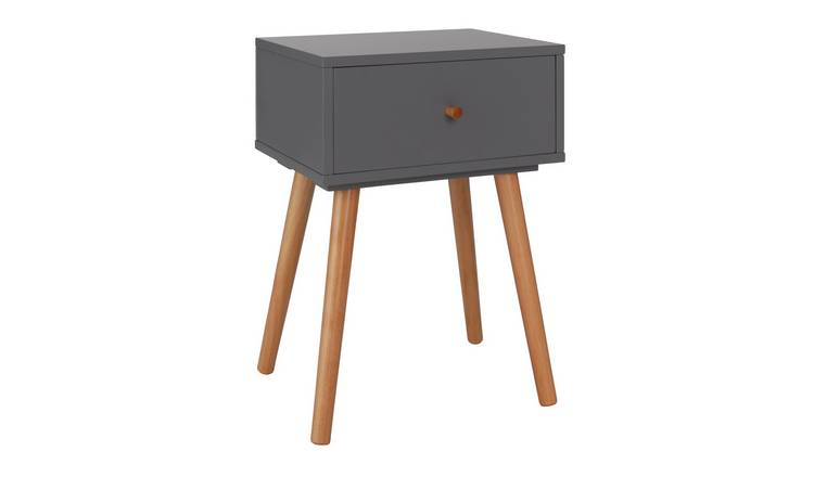 Habitat Otto 1 Drawer Bedside Table - Grey