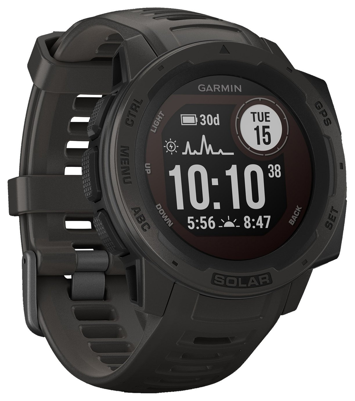 Garmin Instinct Solar GPS Smart Watch - Graphite Black