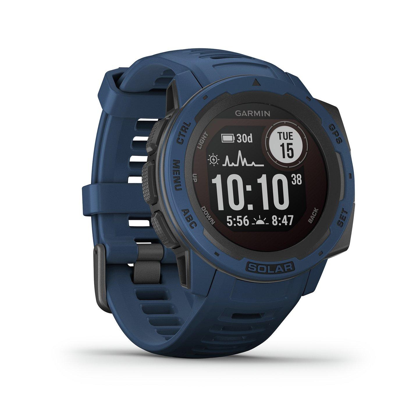 Garmin Instinct Solar GPS Smart Watch - Tidal Blue