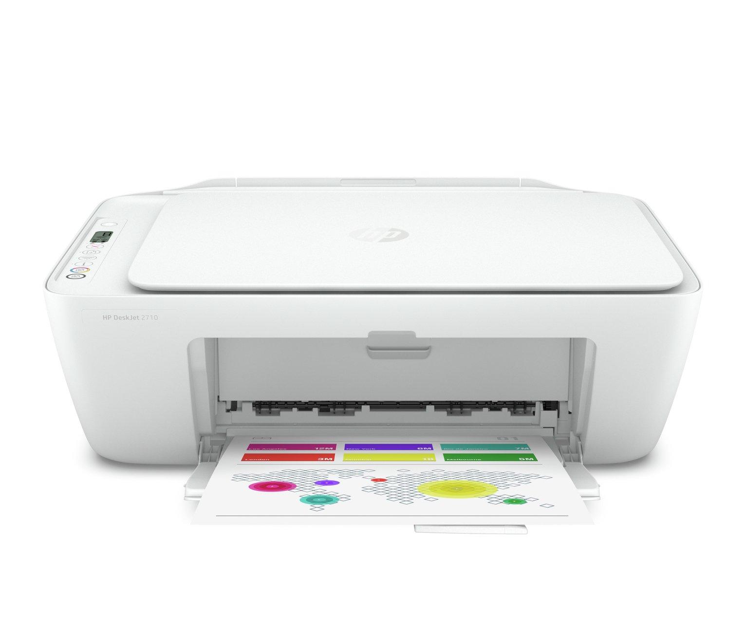 HP Deskjet 2710 Wireless Printer & 2 Months Instant Ink