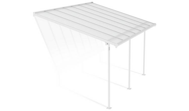 Palram Sierra 3 x 4.25m Patio Cover - White Clear