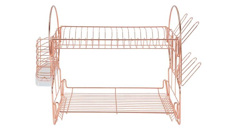 Argos Home 2 Tier Dish Rack - Rose Gold