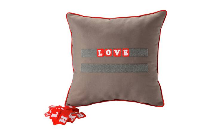 Cushion with Velcro Letters