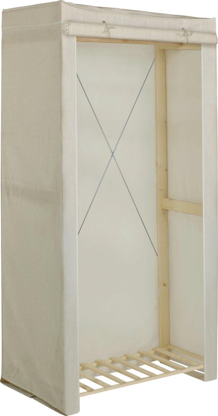 Argos Home Covered Single Wardrobe - Cream