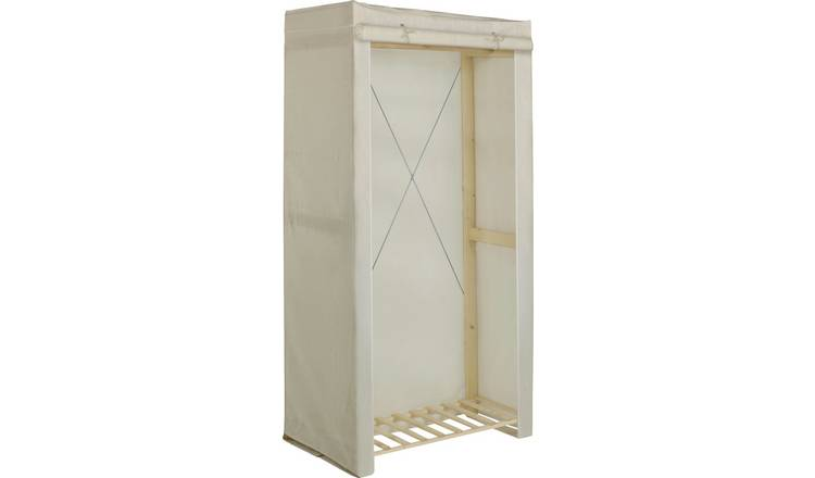 Argos Home Covered Single Wardrobe - Cream