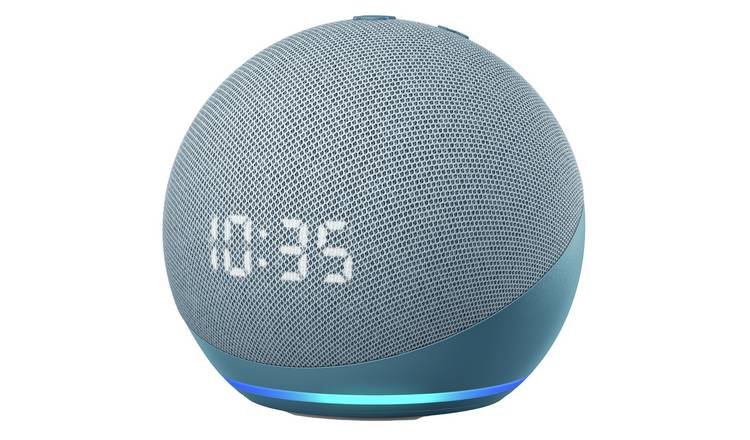 Amazon Echo Dot Smart Speaker with Clock and Alexa- Blue
