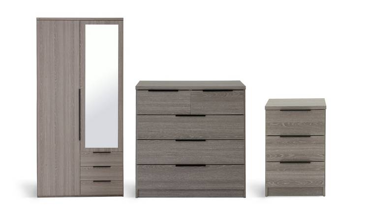 Habitat Hallingford 3 Piece Wardrobe Set -Grey Oak Effect