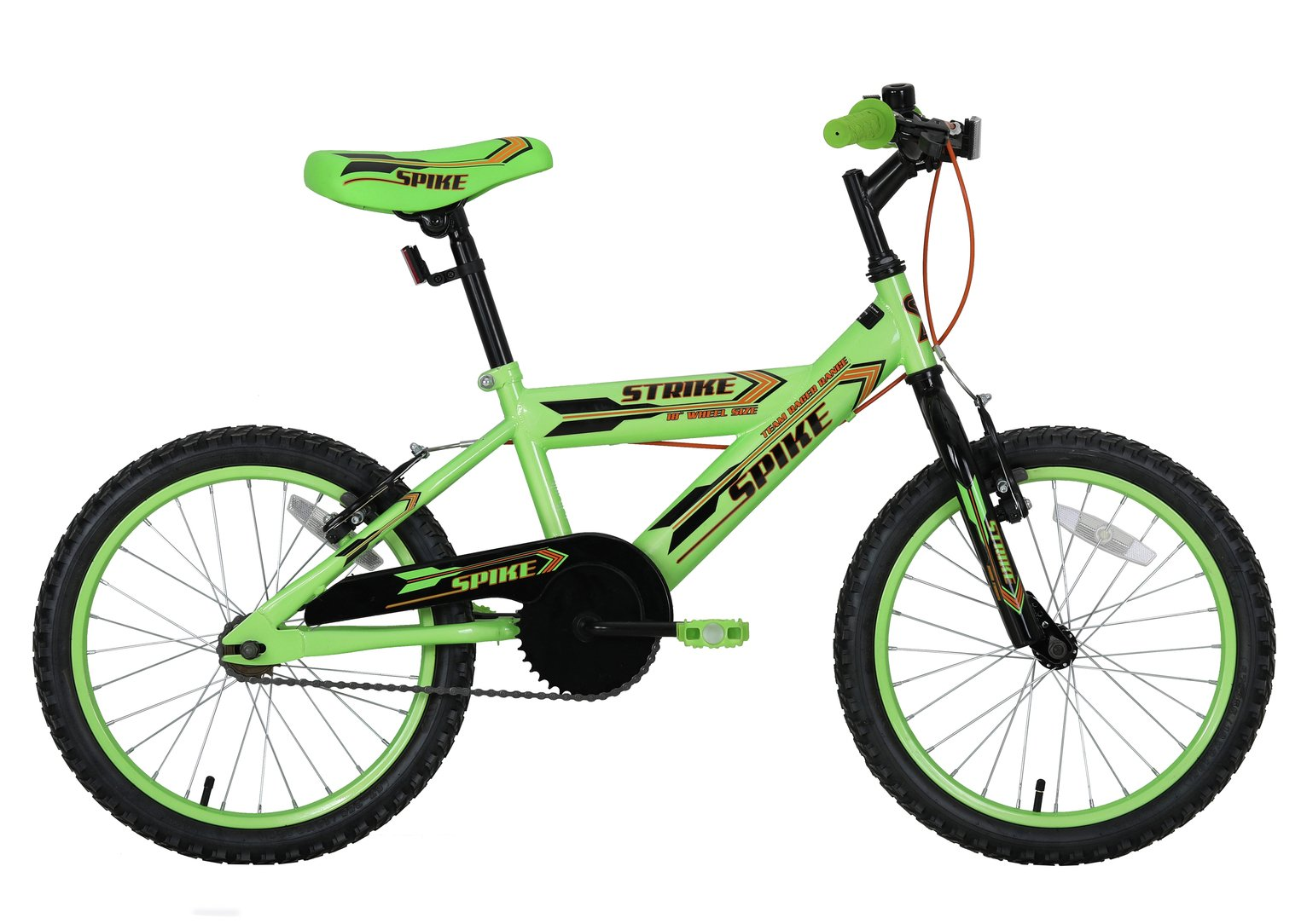 Spike 18 Inch Wheel Size Kids Bike - Green