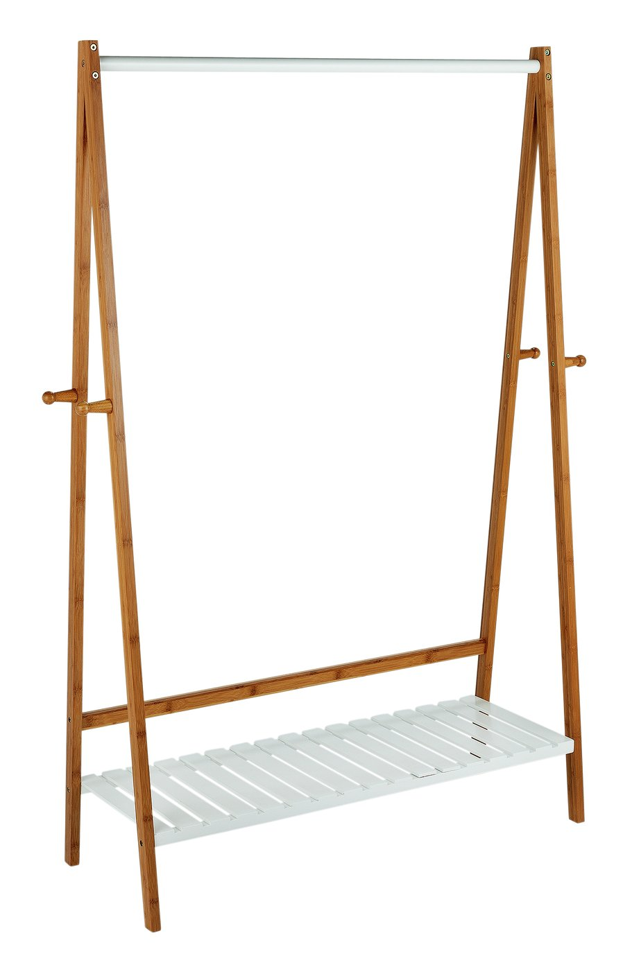 Argos Home Belvoir Clothes Rail with Shelf - Bamboo & White