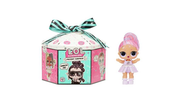 LOL Surprise Present Surprise Doll with 8 Surprises
