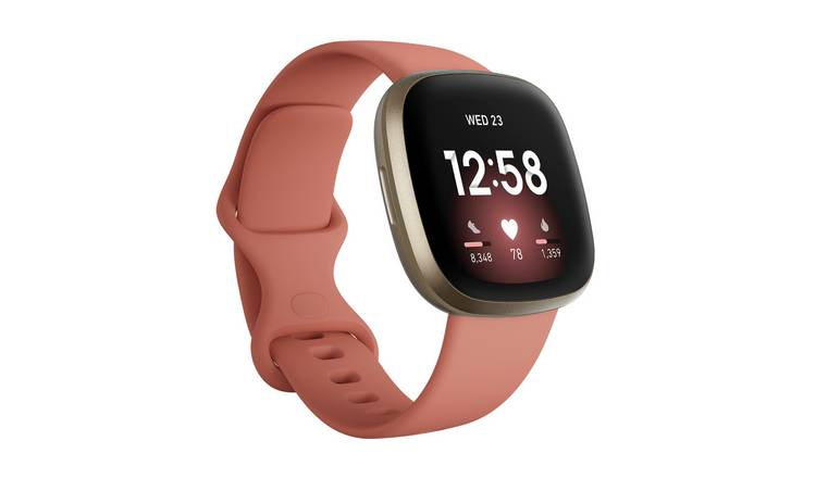 Fitbit Versa 3 Smart Watch - Pink Clay