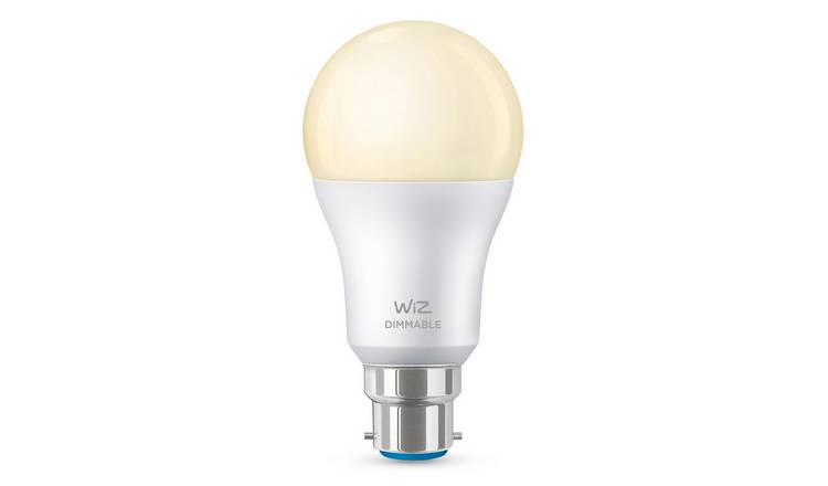 Wiz Wi-Fi Dimmable White B22 LED Smart Bulb