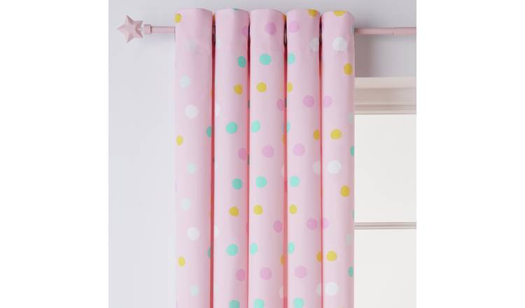 Argos Home Spot Fully Lined Eyelet Curtains - Pink