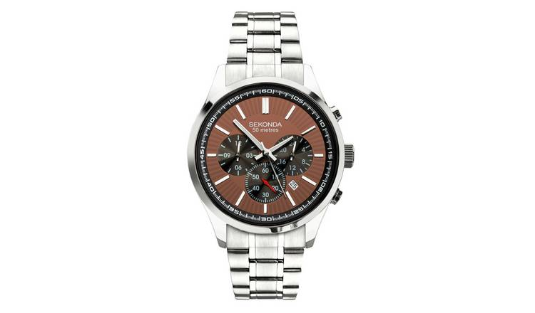 Sekonda Men's Stainless Steel Dual Time Bracelet Watch