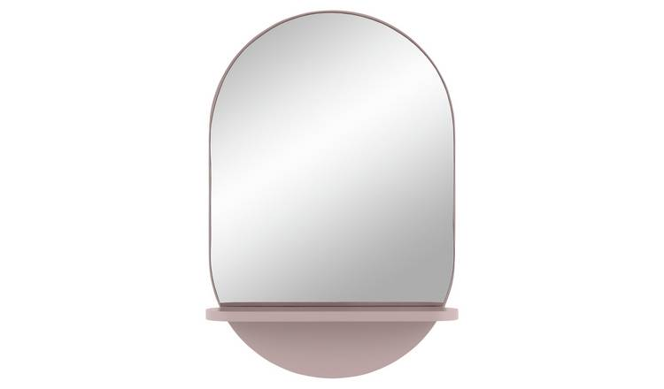 Habitat Freja Mirror with Shelf - Pink