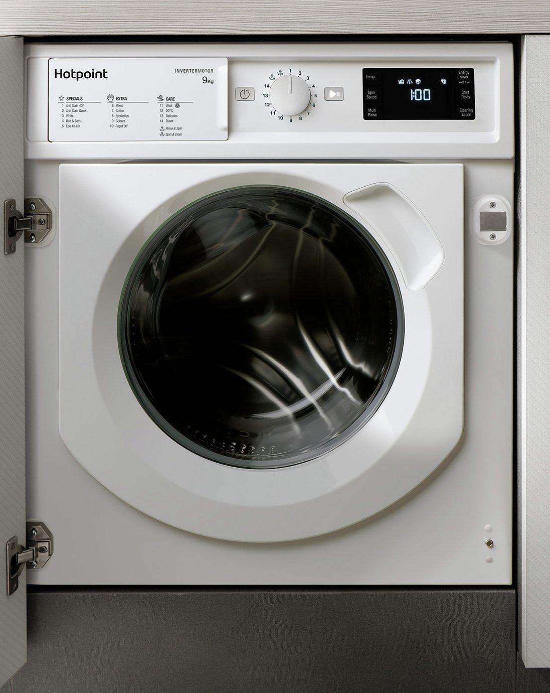 Hotpoint BIWMHG91484 9KG Integrated Washing Machine - White