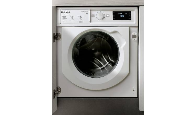 Hotpoint BIWMHG91484 9KG Integrated Washing Machine - White