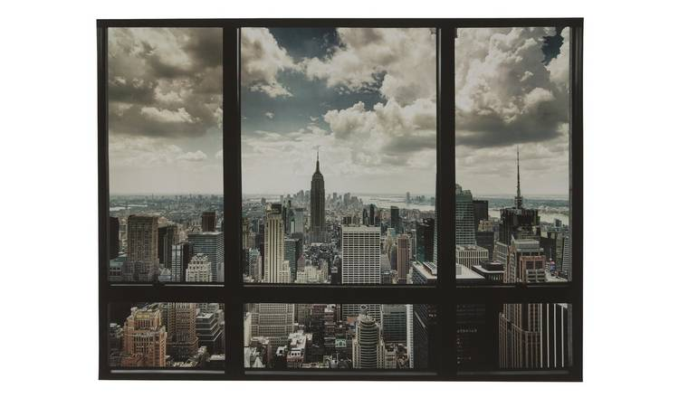 The Art Group New York City Window Canvas Wall Art