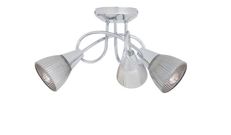 Argos Home Ribbed Curico 3 Light Ceiling Light