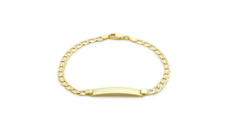 9ct Gold Personalised Curb ID Bracelet