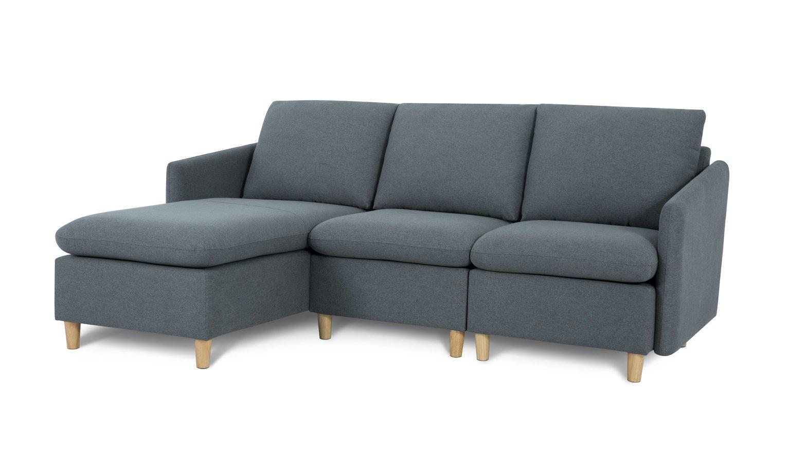 Habitat Mod Reversible Corner Fabric Sofa - Grey