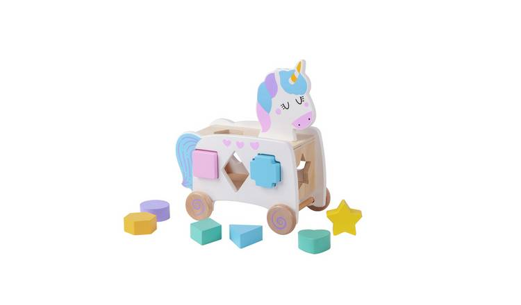 Chad Valley Wooden Unicorn Shape Sorter