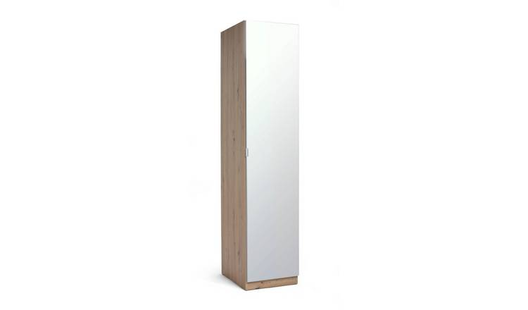 Habitat Munich 1 Door Mirror Wardrobe - Oak Effect