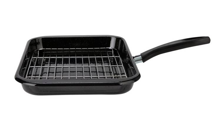 Argos Home Rectangualr Enamel Grill Pan