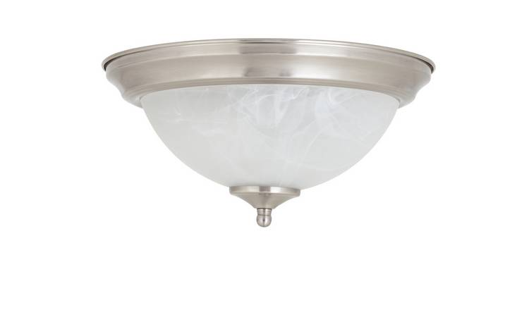 Argos Home Alabaster Uplighter Flush Ceiling Light
