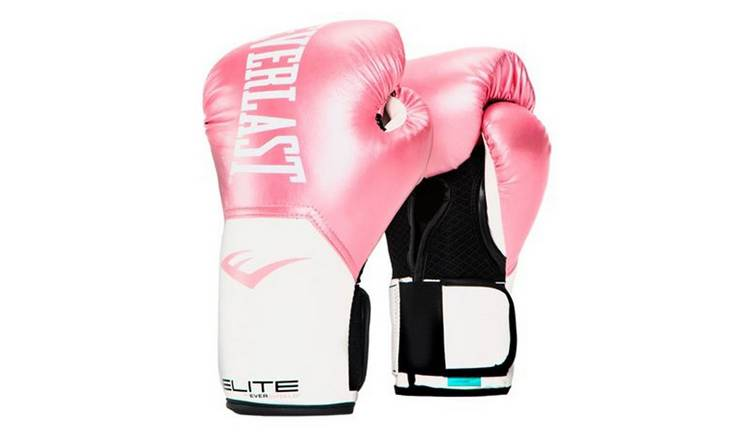Everlast Womens Elite Pro Style Glove 12oz - White and Pink