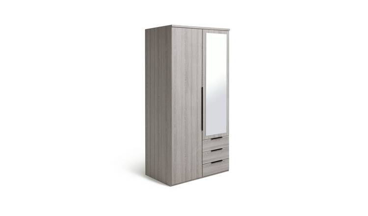 Habitat Hallingford 2 Dr 3 Drw Wardrobe - Grey Oak Effect