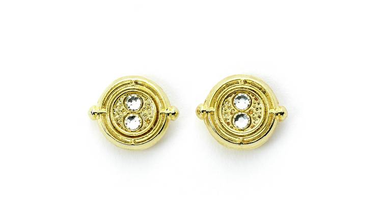 Harry Potter Gold Colour Fixed Time Turner Stud Earrings