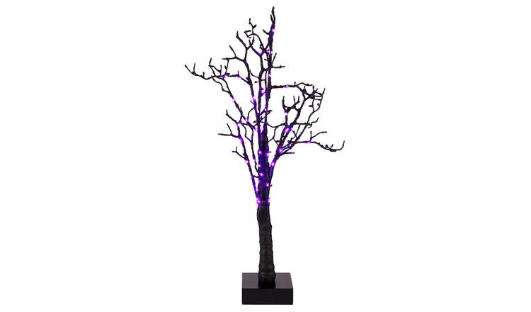 Halloween Black Light Up Tree