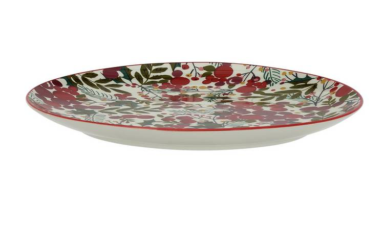 Arogs Home Berry Stoneware Serving Platter