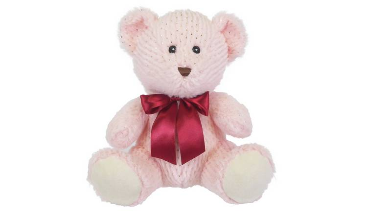 10inch Bear Soft Toy - Pink