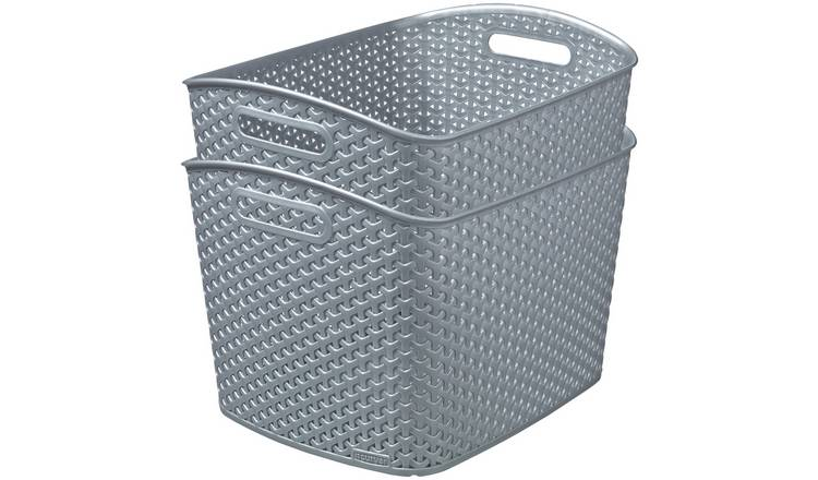 Curver My Style Set of 2 28 Litre Storage Boxes - Grey